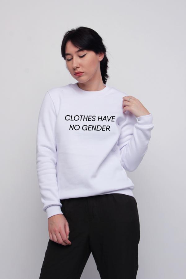 купить заказать толстовку свитшот clothes have no gender украина киев