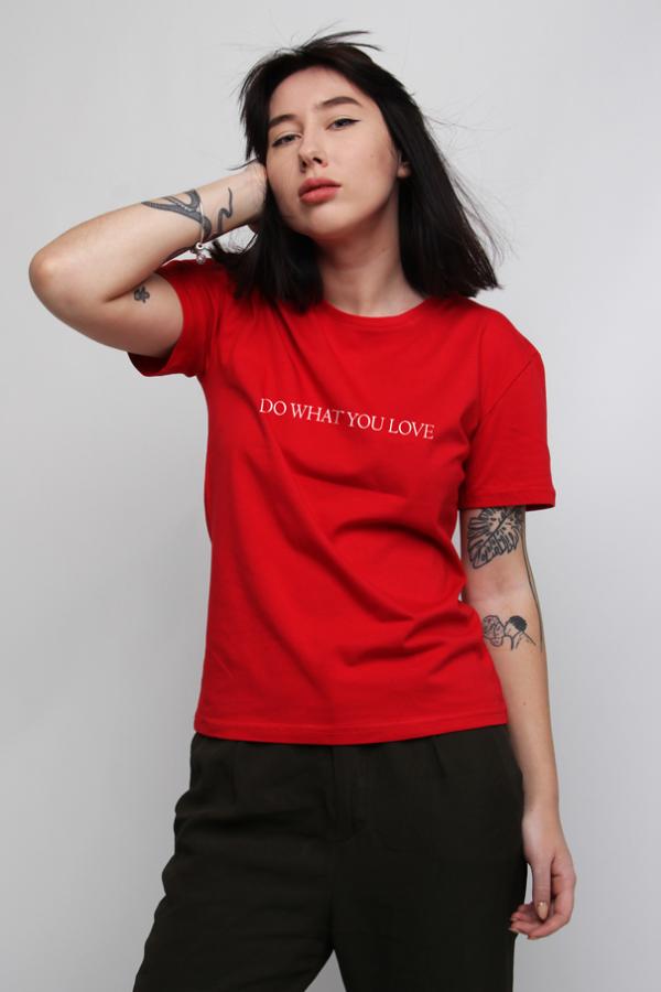 купить заказать футболку футболка do what you love украина киев