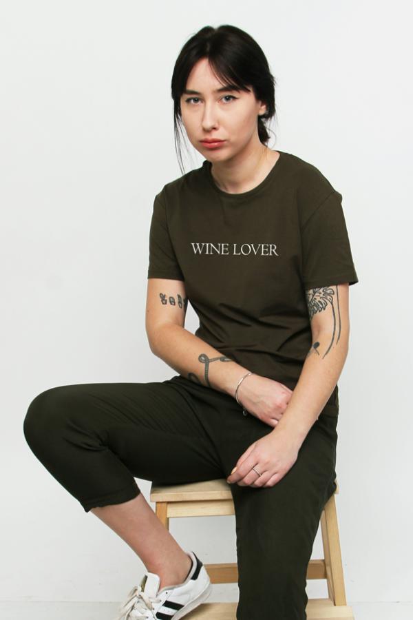 купить заказать футболку футболка wine lover winelover украина киев